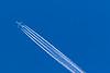 Four engine jet high above Moosonee.