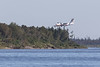 Air Creebec DHC-8 C-FCSK coming to land at Moosonee.
