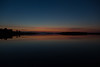 Wide view down the Moose River at Moosonee before sunrise. HDR sequence shot. DARK shot.