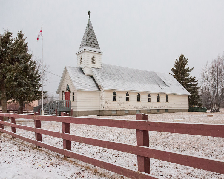 Church of the Apostles in Moosonee. Warmer version.