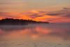 More fog. Looking down the Moose River before sunrise at Moosonee. 2016 May 25th.