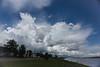 Clouds over Moosonee.