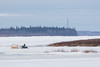 Snowmobile taxi on the Moose River 2016 April 29th.
