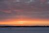 Faint sun pillar shows up before sunrise.