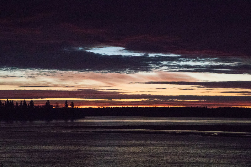 Looking across the Moose River an hour before sunrise. High ISO.