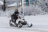 Snowmobile on Revillon Road.