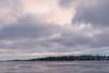 Clouds over Butler Island around sunrise.