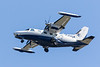 Thunder Airlines Mitsubishi MU-2B-60 C-GYUA over the Moose River coming to land at Moosonee.