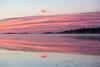 Fog drifting along the Moose River at Moosonee before sunrise.