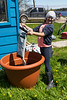 Setting up planters at Keewaytinok Native Legal Services 2016 June 13th.