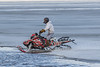 Snowmobile on the Moose River at Moosonee 2016 May 2nd.