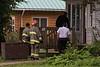 Moosonee Volunteer Firefighters respond to early morning alarm on Revillon Road.