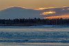 Sunrise at Moosonee with low clouds. HDR default.