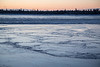 Charles Island across the Moose River. Ice on the river.