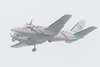 Air Creebec Beech A-100 King Air C-FEYP coming to land in Moosonee during rain.
