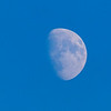 Moon high in the late afternoon sky.