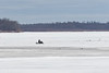 Snowmobile on the Moose River 2016 April 28th.