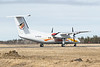 Air Creebec DHC-8 C-FCLS taxiing in Moosonee.