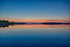 Wide view down the Moose River at Moosonee before sunrise. HDR efx balanced.
