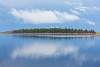 Clouds over Butler Island and their reflection in the Moose River.