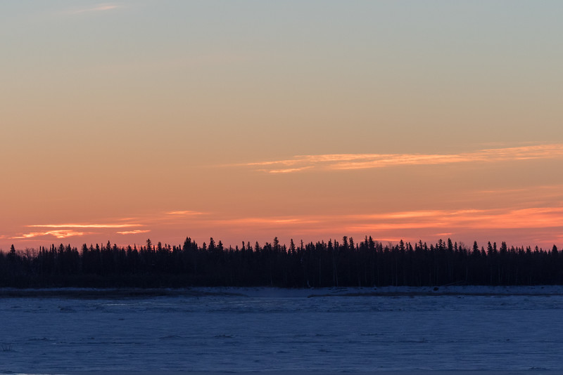 Looking across the Moose River before sunrise 2016 December 31st.