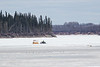 Snowmobile taxi on the Moose River 2016 April 28th.