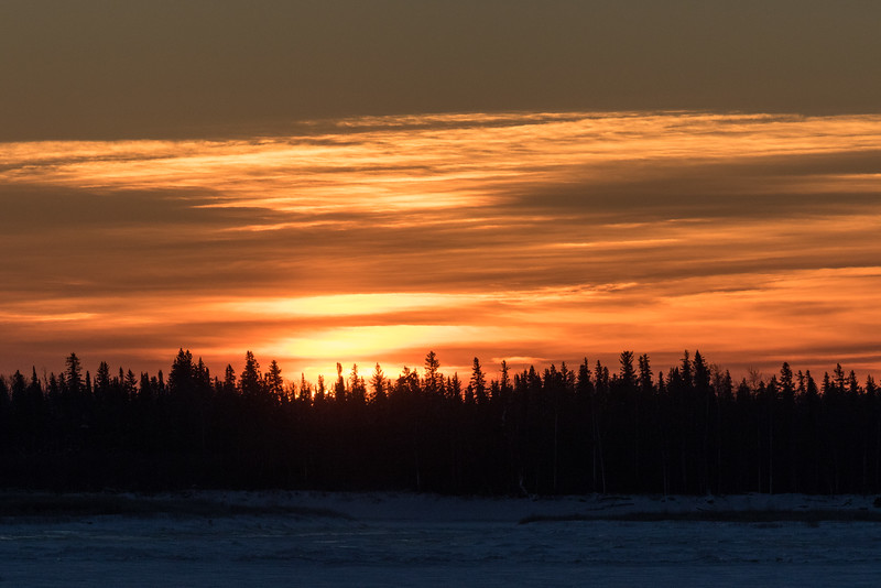 Moosonee sunrise 2016 December 31st.