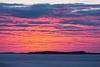 Purple sky down the Moose River at Moosonee a few minutes before sunrise.