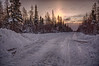 Arriving in Moosonee from the winter road. HDR efx dark colour temperature adjusted.
