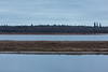 Looking across the Moose River from Moosonee on a dull morning. 2016 October 30th.