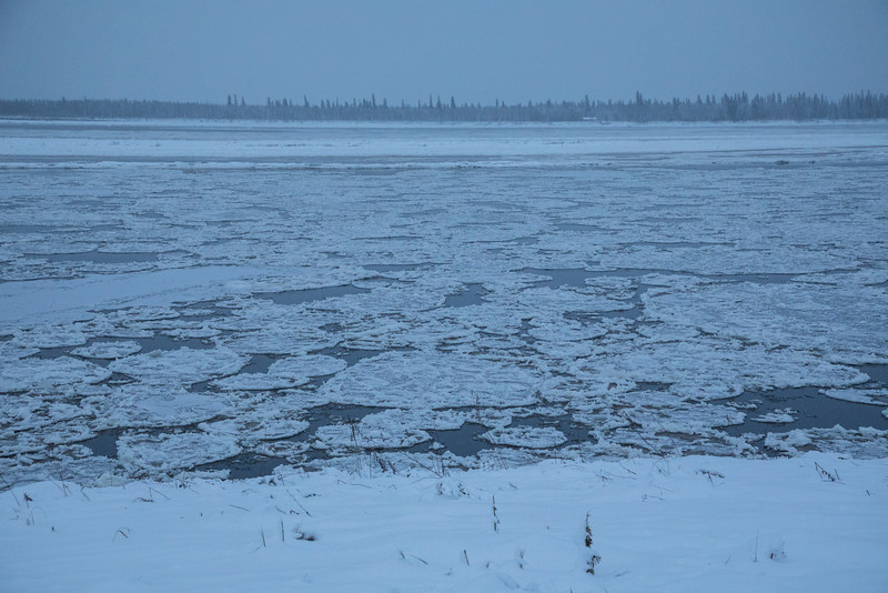 Moving ice on the Moose River.