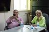Ontario Housing Minister Chris Ballard and Assistant Deputy Minister Karen Glass at Keewaytinok Native Legal Services in Moosonee.