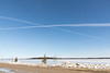 Crossed contrails over the Moose River.