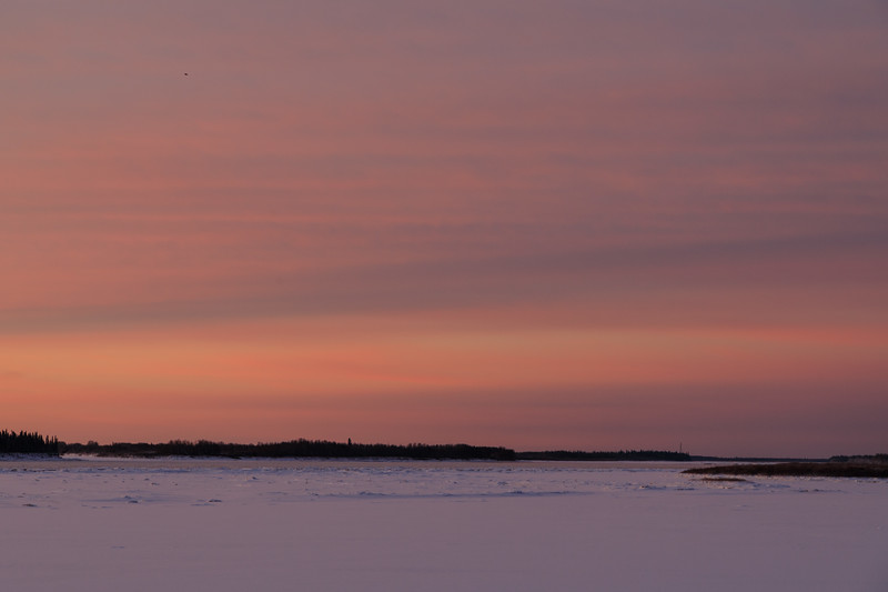 Looking up the Moose River before sunrise.