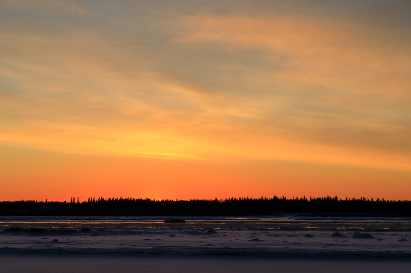 Almost sunrise looking across the Moose River.