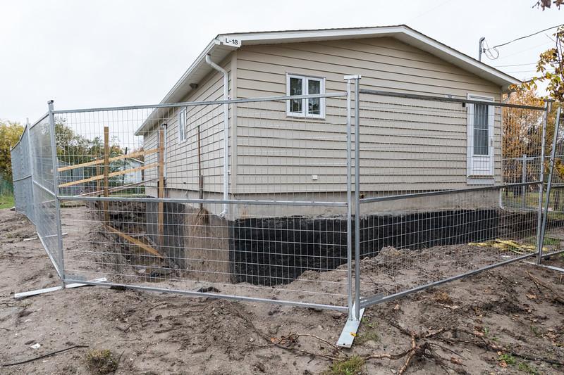 Basement work at 36 Wabun Road in Moosonee.