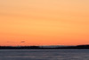 Almost sunrise at Moosonee 2017 April 24th looking down the river.