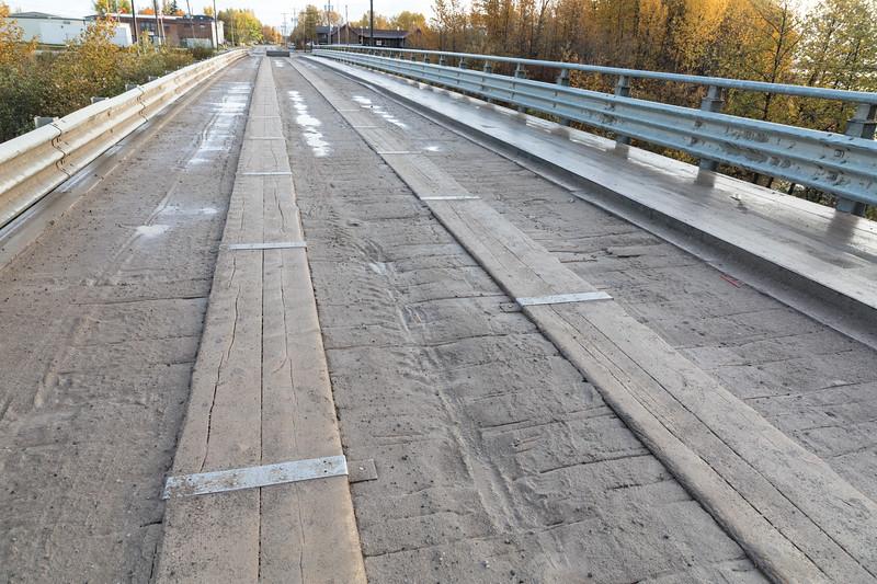 Surface of Ferguson Road bridge over Store Creek.