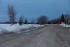 Revillon Road, dry on a cool April morning at minus 4C.