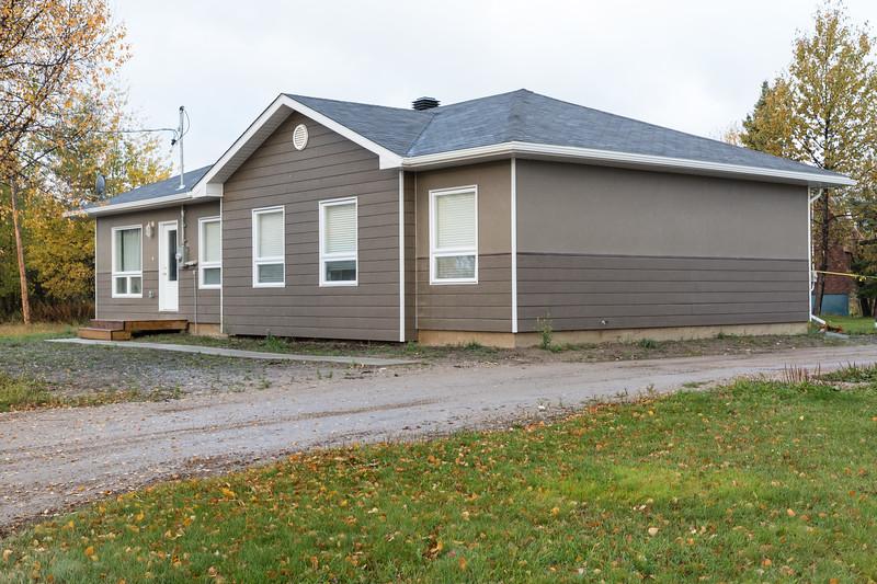 New railway housing in Moosonee.