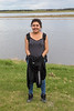 Janet Etherington along the Moose River in Moosonee, Ontario 2017 May 31st.