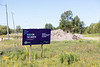 Build on the North. Moosonee Ferguson Road (South) Water/Wastewater Replacement. sign.