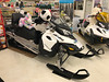Stuffed animals on snowmobiles at Moosonee Northern Store #nwc.