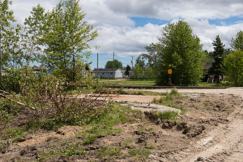 Site of former water tower in Moosonee.