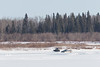 Help coming for stuck truck on the Moose River.
