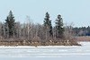 South end of Butler Island in the Moose River at Moosonee 2017 April 2nd.