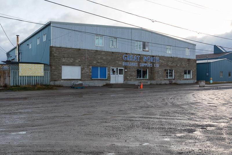 Great North Builders Supplies store in Moosonee.