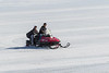 Snowmobile on the Moose River 2017 April 12th.