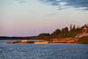 Moosonee public docks at sunrise.