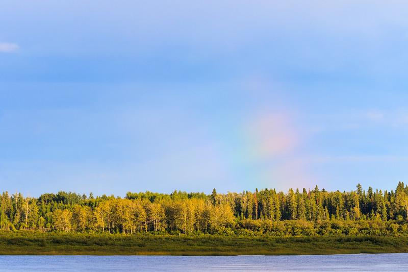 Faint bit of rainbow across the river 2017 September 4th.